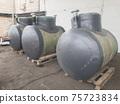 Green horizontal fiberglass containers 75723834