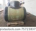 Green horizontal fiberglass containers 75723837