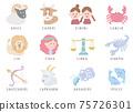 12 Constellation Illustration 75726301