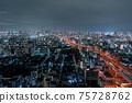 오사카 야경 오사카 베이 타워 75728762