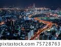 오사카 야경 오사카 베이 타워 75728763