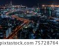 오사카 야경 오사카 베이 타워 75728764