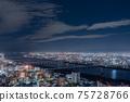 오사카 야경 우메다 스카이 빌딩 75728766