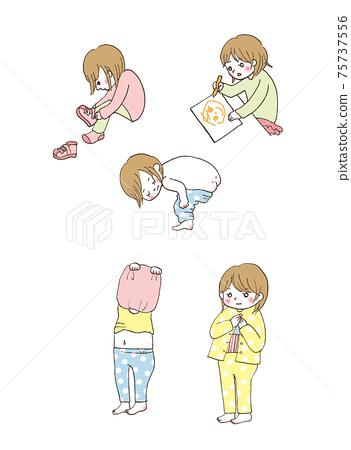 幼兒穿脫衣服,穿鞋,繪畫 75737556