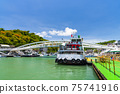 Gushan ferry pier is in the port of Kaohsiung, Taiwan. 75741916