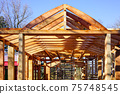 modern construction with wooden details, the new building are built environmentally friendly 75748545