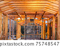 modern construction with wooden details, the new building are built environmentally friendly 75748547