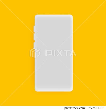 Realistic smartphone vector background 75751122