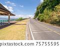 The asphalt road around the phuket island in Summer season beautiful blue sky background at Phuket Thailand 75755595