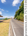 The asphalt road around the phuket island in Summer season beautiful blue sky background at Phuket Thailand 75755596