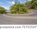 The asphalt road around the phuket island in Summer season beautiful blue sky background at Phuket Thailand 75755597