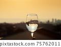 酒杯和晚上市容 75762011