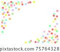 五彩繽紛的糖果背景素材 75764328