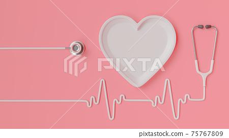 Heart shape plate. 75767809