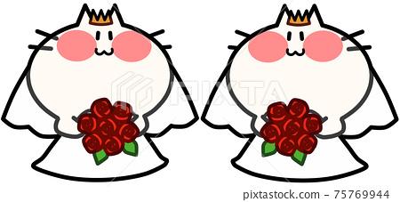 Wedding Female Couple Nyanko 75769944