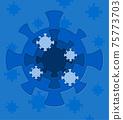 coronavirus paper cut art banner vector illustration 75773703