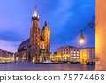 Main market square, Krakow, Poland 75774468