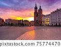 Main market square, Krakow, Poland 75774470