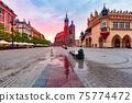 Main market square, Krakow, Poland 75774472