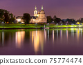 Night church in Krakow, Poland 75774474
