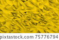Yellow background in the form of broken shapes of triangles abstraction 3d rendering 75776794