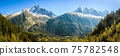 French Alps and Chamonix Valley 75782548
