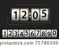 Old mechanical clock odonometer, timer 75786300