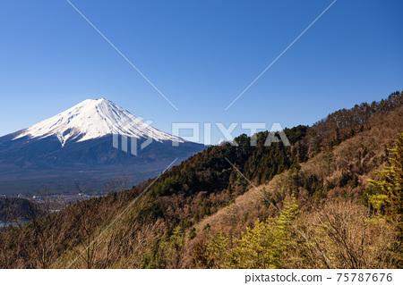 從Misaka Pass看到的富士山 75787676