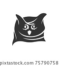 Owl Head mascot illustration Template isolated in white background 75790758