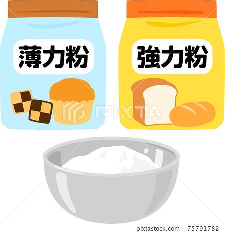 袋裝高筋麵粉和軟麵粉 75791782