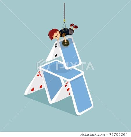 Little child creating Trump Tower 75793264