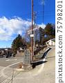 Former Nakasendo in front of Nagano_Suwa Taisha Shrine 75798201