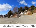 Former Nakasendo in front of Nagano_Suwa Taisha Shrine 75798202