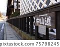 Nagano Old Nakasendo_Shimosuwa-shuku scenery 75798245
