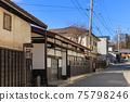 Nagano Old Nakasendo_Shimosuwa-shuku scenery 75798246