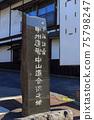 Nagano Old Nakasendo_Shimosuwa-shuku scenery 75798247