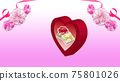 Carnation and gift box background material 75801026