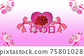 Carnation and heart background material for Mother's Day characters 75801028