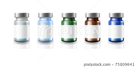 5-colors-vaccine-bottles-silver-cap-with-white-label 75809641