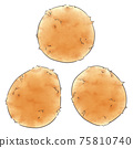 Potato (new potato), one line color 75810740