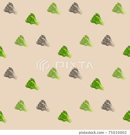 Komatsuna seamless cute background wallpaper 75810802