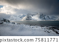 The magic of nature in Lofoten during winter 75811771