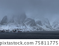 The magic of nature in Lofoten during winter 75811775