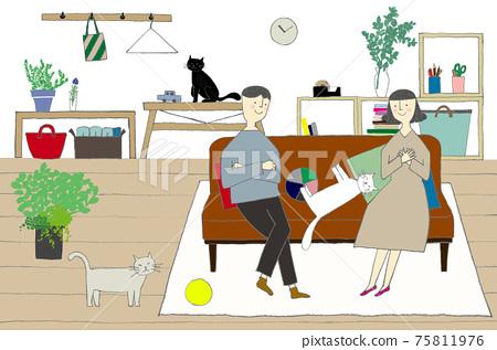 夫妻和寵物的生活 75811976