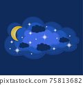 sky and clouds paper cut art banner vector illustration 75813682