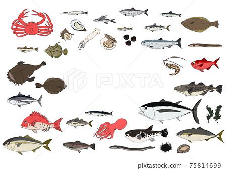 魚圖集手繪 75814699