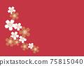 日式紅色花卡 75815040