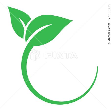 잎의 마크 친환경 이미지 75822770
