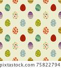 簡單的複活節彩蛋無縫模式圖/黃色/明亮(大) 75822794