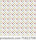 簡單的複活節彩蛋無縫圖案插圖/白色/黑色(中間) 75822798